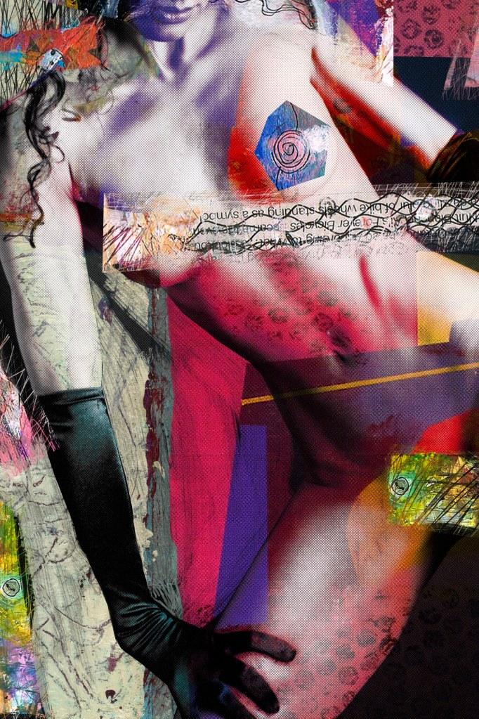 "Woman color patch 229,52""x 19,68""_Luz Perez Ojeda"