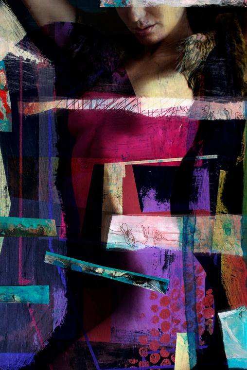 "La Madonna 2014 29,52""x 19,68""/75x50cm mixed media pigment print on wood"